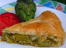 Artichoke and Leek Pie - Aginaropita