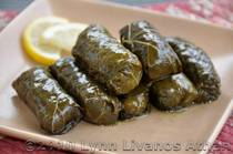 Stuffed Grape Leaves with Rice and Herbs - Dolmathakia