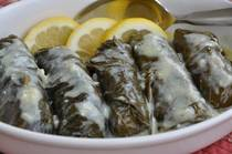 Stuffed Grape Leaves with Ground Meat and Rice