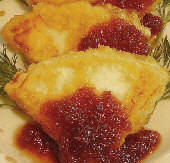 Fried goat cheese with preserves