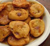 Tiganites with petimezi syrup