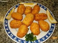 Baccaliaros Tiganitos (Fried Dried Cod)