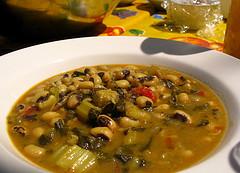 Black Eye Beans with Greens