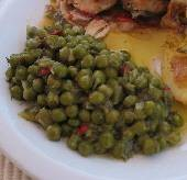 Dilled peas with peppers