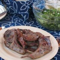 Grilled Lamb Chops with Thyme Rub