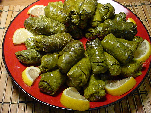 Koupepia - Dolmathakia (Stuffed Vine Leaves)