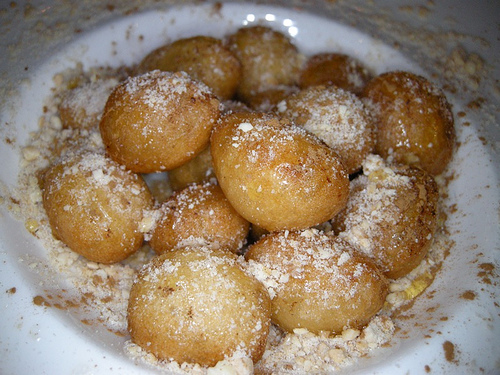 Cyprus Doughnuts with Honey Syrup