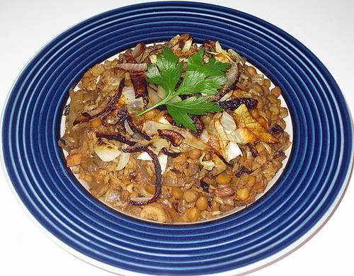Moujendra (Lentil & Rice Pilaf)