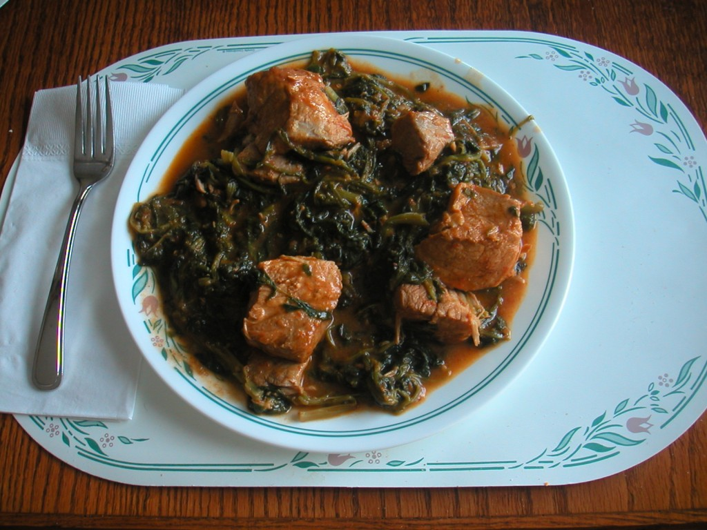 Pork with Spinach