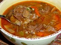 Beef Vegetable Soup - Kreatosoupa me Trahana