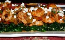 Sauteed Shrimp with Tomato and Feta Cheese