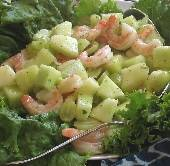 Shrimp & Honeydew Melon Salad