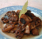 Soupies krasates - cuttlefish in wine