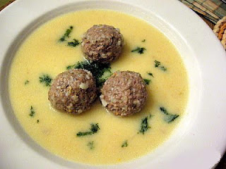 Boiled meat ball soup - Youvarlakia avgolemono