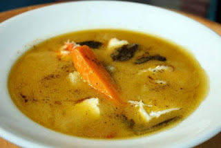 Fish Soup in creamy lemon sauce