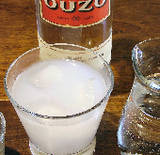 Ouzo with ice and water