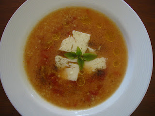 Trahanas - A tomato based soup with tiny sour dough balls