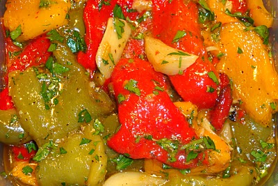 Roasted Peppers Meze