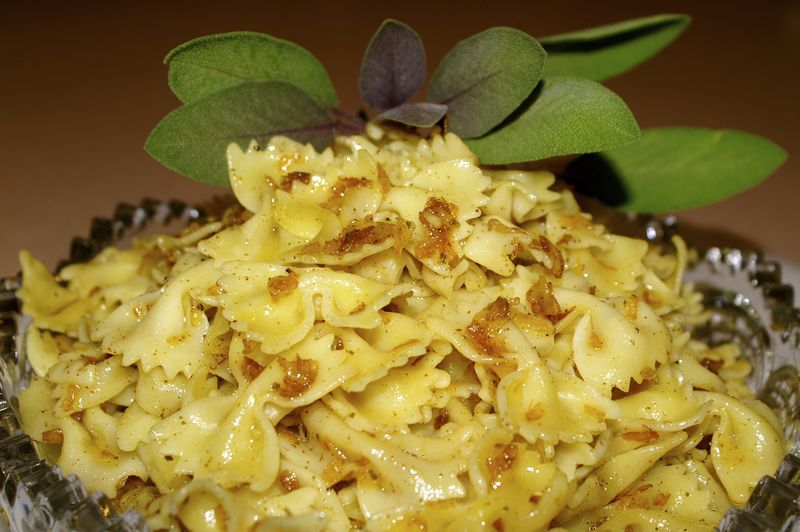 Strained Egg Noodles with Brown Butter and Cheese