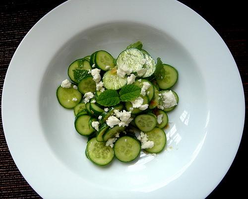 Cucumber with Feta and Mint - Agourosalata
