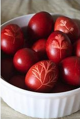 Easter Eggs Dyed with Onion Skins - Avga Bamena me Kremithofilla