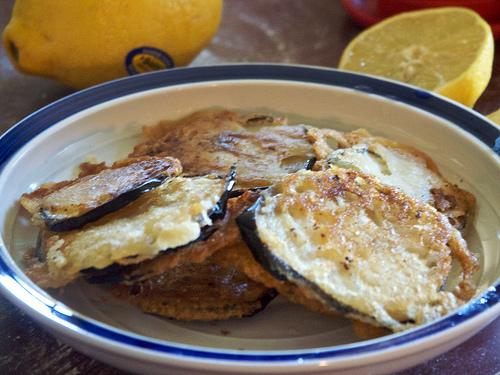 Fried Eggplants - Melitzanes Tiganites