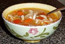 Greek Chicken Soup - Kotosoupa