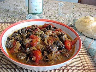 Snails stew - Saligkaria stifado