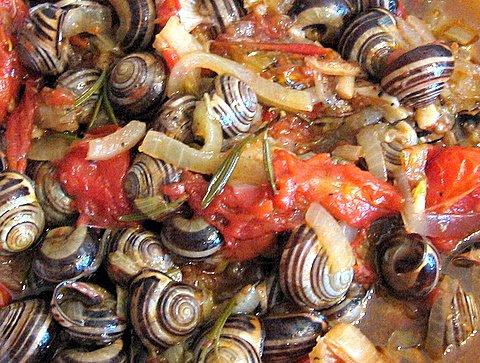 Snails stew - Saligkaria stifado1