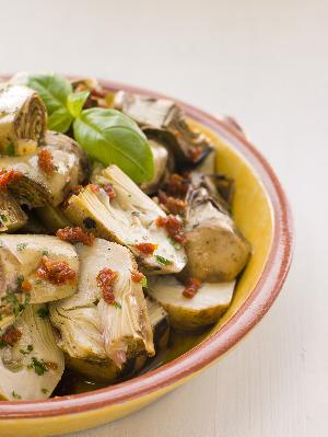 Artichoke Salad - Anginares Salata