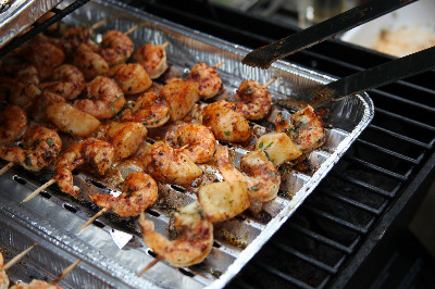 Grilled Shrimps - Garides Sti Shara