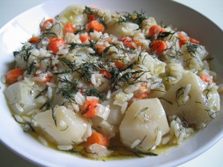 Artichokes with Dill - Anginares Me Anitho