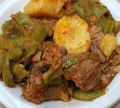 Lamb Stew with Green Beans - Arni me Fassolakia