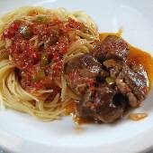 Lamb in a Red Sauce with Bell Peppers - Arnaki Kokkinisto