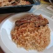 Lamb with Rice Pilaf Oven Casserole - Arni me Pilafi sto Fourno