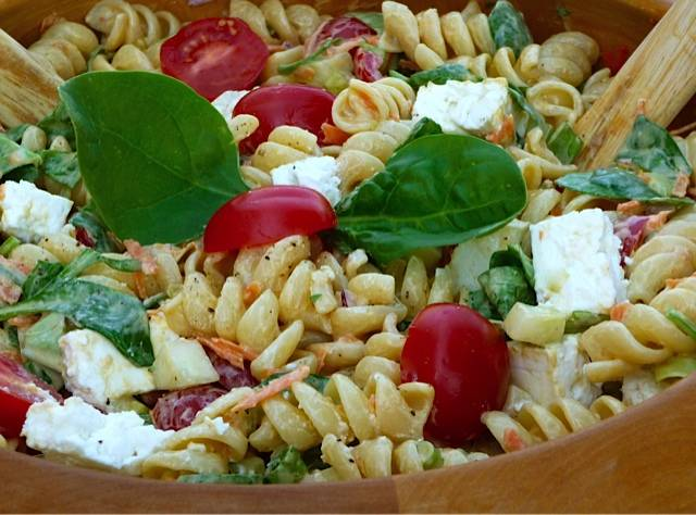 Pasta Salad with Greek Yogurt Dressing