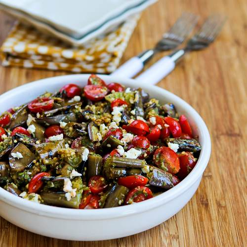 Eggplant, Feta and Tomato Salad