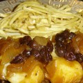 Cod With Raisins -Bakaliaros Me Stafida
