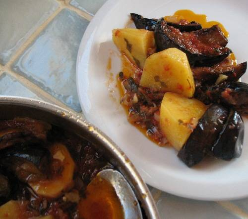 Braised Eggplant with Potatoes