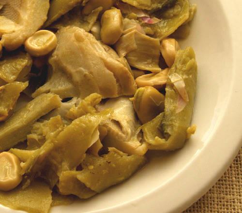 Broad (Fava) Beans & Artichoke Hearts