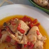 Chicken with Sweet Red Peppers - Kotopoulo me Kokkines Piperies