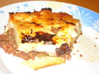 Moussaka with Potatoes - Mousakas Patates