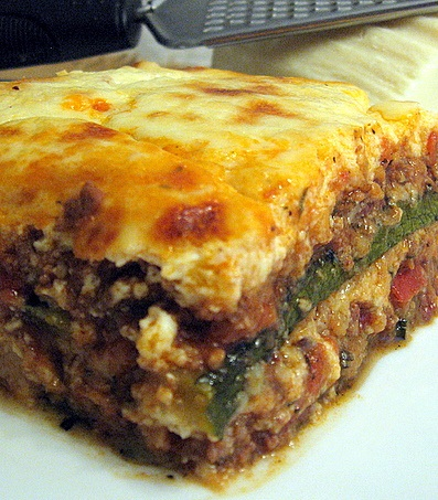 Moussaka with Zucchini - Mousakas Kolokythakia