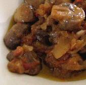 Mushroom & Onion Stew - Stifatho (Stifado) me Manitaria