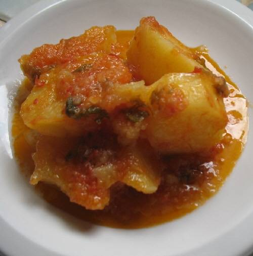 Potato Ragout - Patates Yiahni