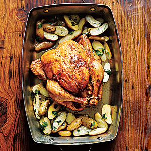 Roasted Lemon Garlic Chicken with Potatoes - Kotopoulo Fournou