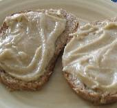 Tahinomelo (Sesame Honey Spread) on Whole Grain Bread