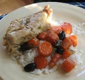 Stovetop Rosemary Chicken with Capers & Olives