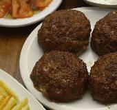 Stuffed Burgers with Feta & Herbs - Biftekia Yemista