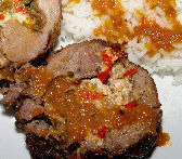 Stuffed Leg of Lamb (with Cheese & Peppers) - Arni Yemisto